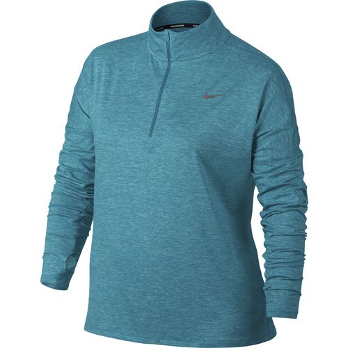 nike women's dry element 1/2 zip plus size running top | academy