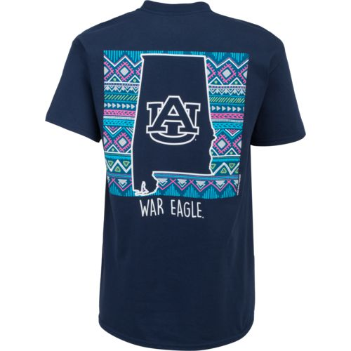 New World Graphics Women's Auburn University Terrain State T-shirt