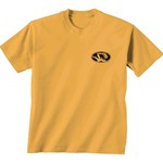 New World Graphics Women's University of Missouri Comfort Color Initial Pattern T-shirt - view number 2