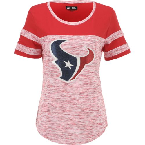 5th & Ocean Clothing Women's Houston Texans Space Dye Fan Top