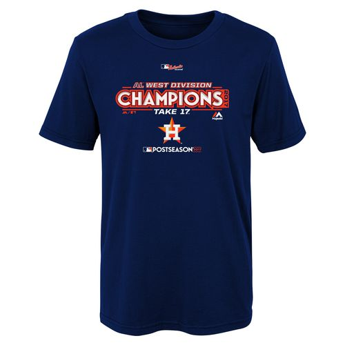 Majestic Little Kids' Astros Division Champs Locker Room T-Shirt