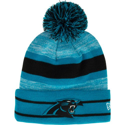 New Era Men's Carolina Panthers Cuffed Knit Cap with Pom