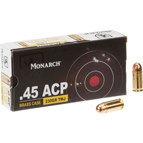 Display product reviews for Monarch® TMJ .45 ACP 230-Grain Pistol Ammunition