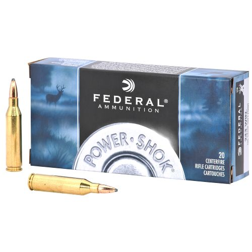 Federal Premium® Ammunition Power-Shok® .243 Winchester 100-Grain Centerfire Rifle Ammunit