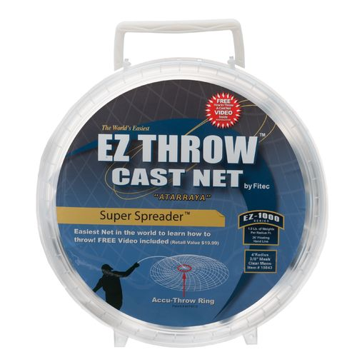 Display product reviews for Fitec Super Spreader™ EZ Throw™ 1000 Series 4' Monofilament Cast Net