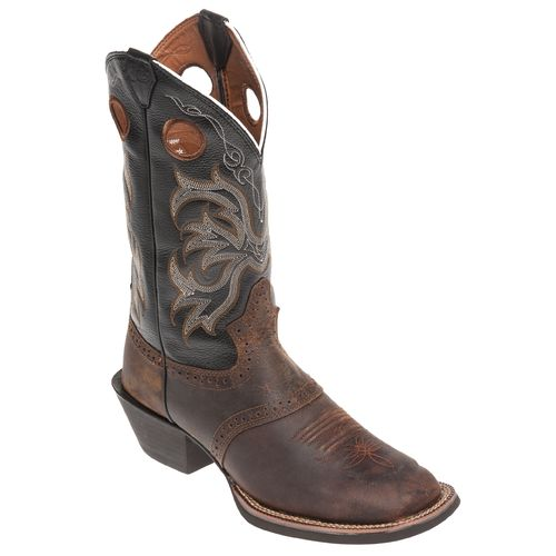 Justin Men's Punchy Stressed Buffalo Western Boots - view number 3