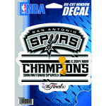 Rico San Antonio Spurs 2014 NBA Champions Die-Cut Window Decal