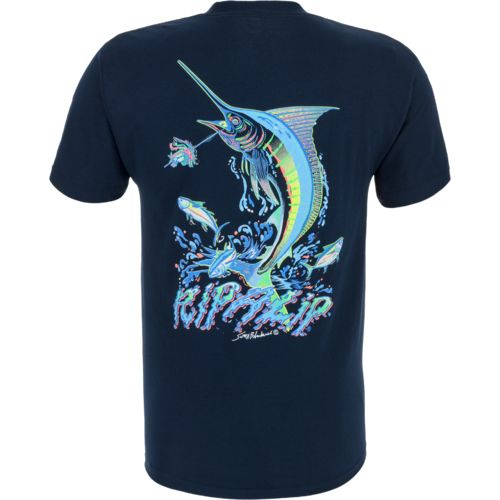 Rip a lip adults 39 marlin t shirt academy for Rip a lip fish wear