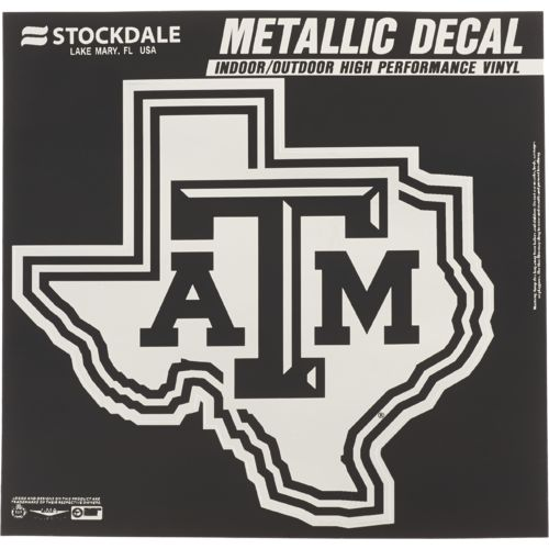 Stockdale Texas A&M University Metallic Decal