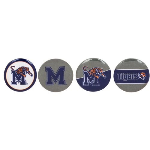 WinCraft University of Memphis Round Buttons 4-Pack