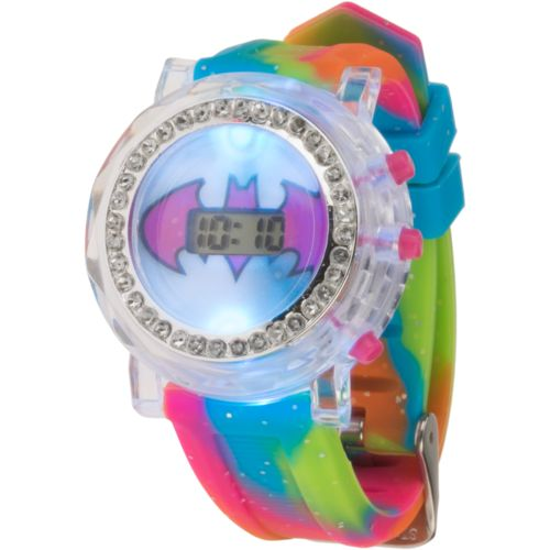 DC Comics Girls' Batgirl Flashing Watch