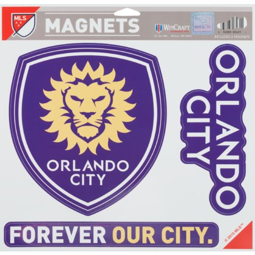 WinCraft Orlando City SC Vinyl Magnets 3-Pack