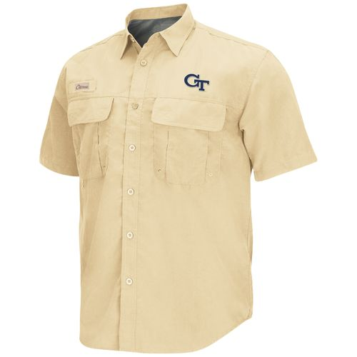 Colosseum Athletics Men's Georgia Tech Swivel Fishing Shirt