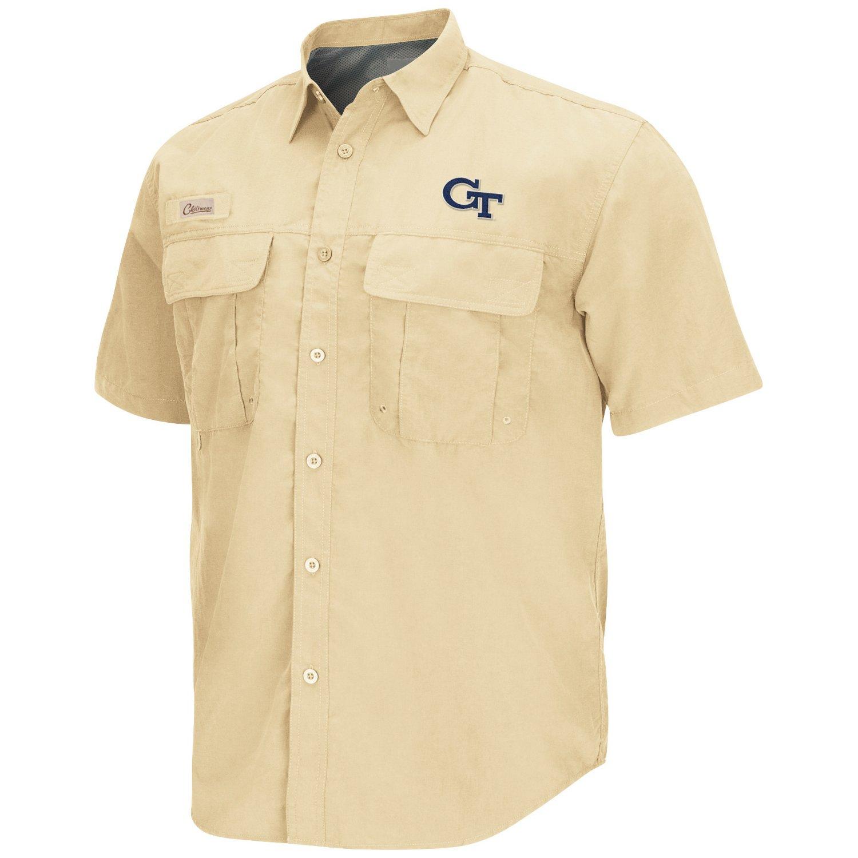 Colosseum Athletics Men's Georgia Tech Swivel Fishing Shirt