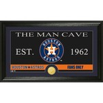 The Highland Mint Houston Astros Man Cave Bronze Coin Photo Mint