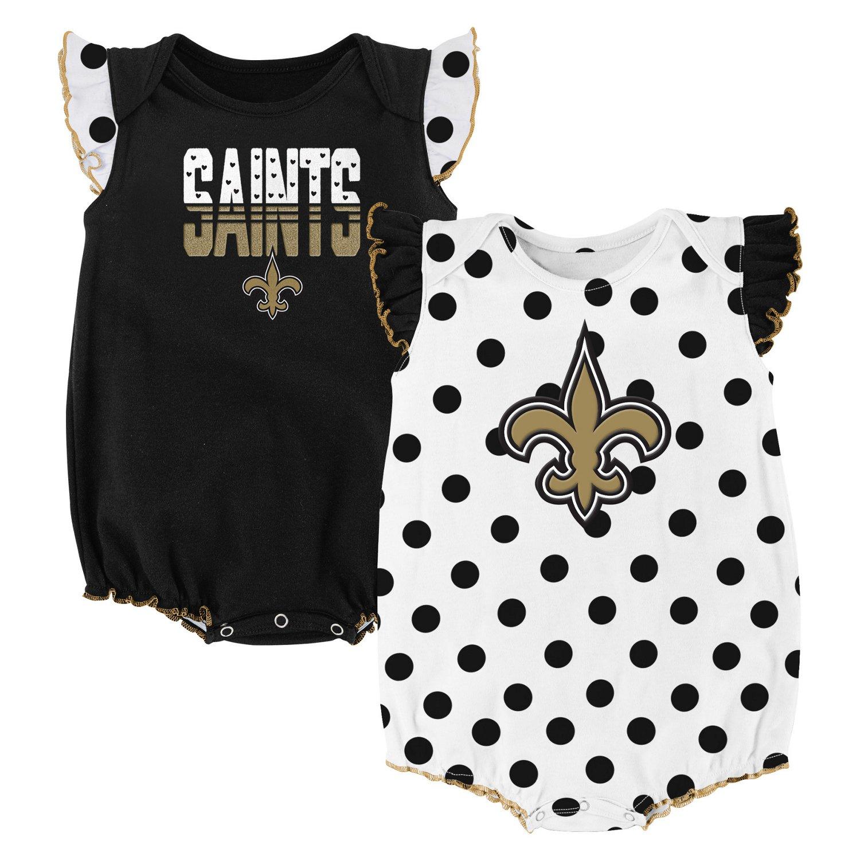 NFL Infant Girls' New Orleans Saints Polka Fan