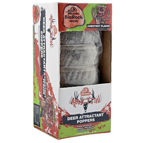 Mossy Oak BioLogic Addiction Chestnut Deer Poppers 5-Pack