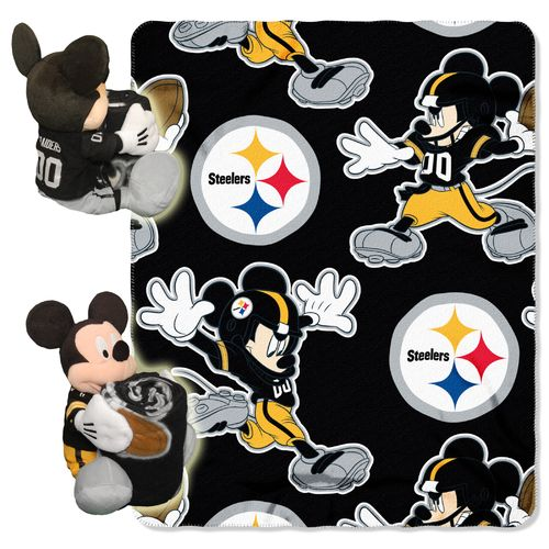 The Northwest Company Pittsburgh Steelers Mickey Mouse Hugger and Fleece Throw Set