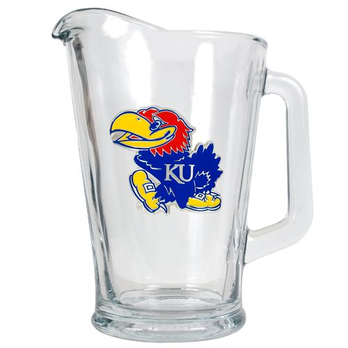 Great American Products University of Kansas 1/2-Gallon Glass Pitcher