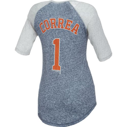 Majestic Women's Houston Astros Carlos Correa #1 Raglan T-shirt