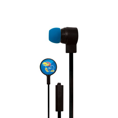 Mizco University of Kansas Big Logo Earbuds