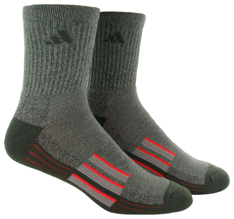 adidas™ Men's climalite® X II Mid-Crew Socks 2-Pack