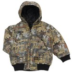 Walls Toddlers' Oilfield Camo Insulated Hooded Jacket