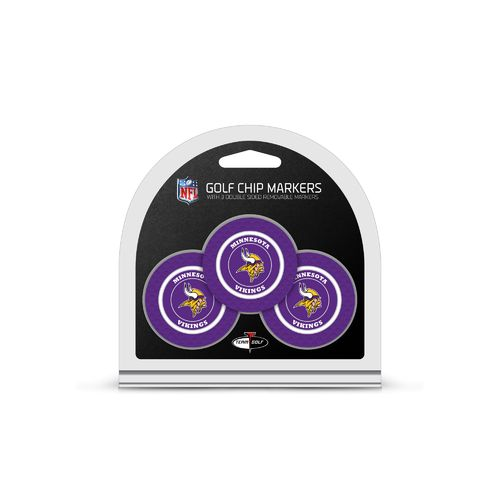 Team Golf Minnesota Vikings Poker Chip and Golf Ball Marker Set