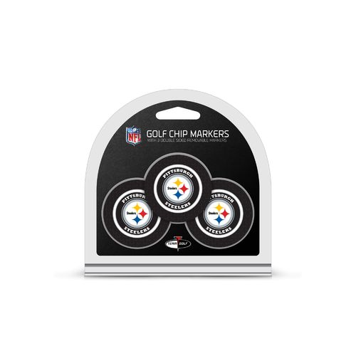 Team Golf Pittsburgh Steelers Poker Chip and Golf Ball Marker Set