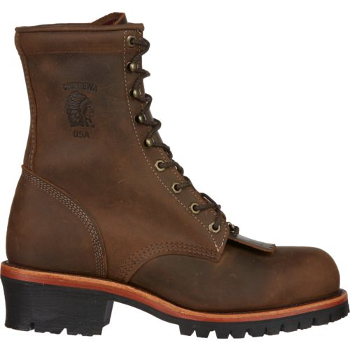 Chippewa Boots Men's Apache Utility Steel-Toe Logger Rugged Outdoor Boots