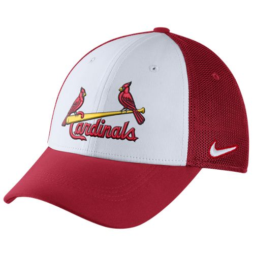 Nike™ Adults' St. Louis Cardinals Vapor Dri-FIT Mesh Back Swoosh Flex Cap