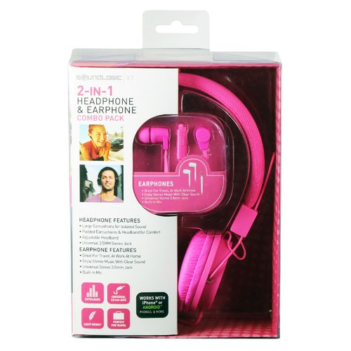 SoundLogic XT Headphone and Earphone Package