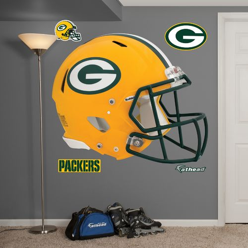 Fathead Green Bay Packers Real Big Helmet Decal