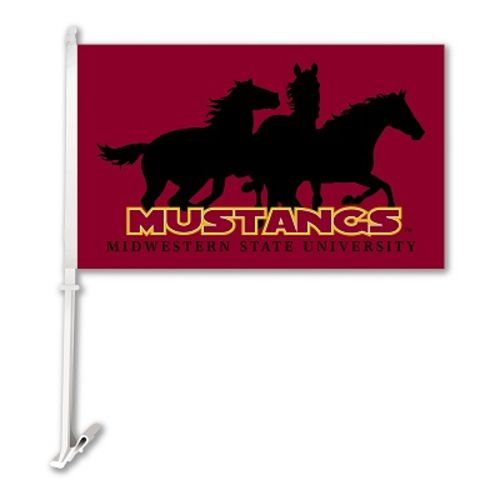 BSI Midwestern State University 2-Sided Car Flag