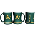 Boelter Brands Oakland Athletics 14 oz. Relief Coffee Mugs 2-Pack