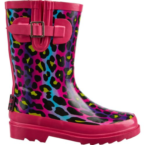Austin Trading Co.™ Girls' Ombré Cheetah Rubber Boots