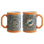 Boelter Brands Miami Dolphins Stone Wall 15 oz. Coffee Mugs 2-Pack