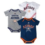 Majestic Infants' Houston Astros Three Strikes Bodysuit Set