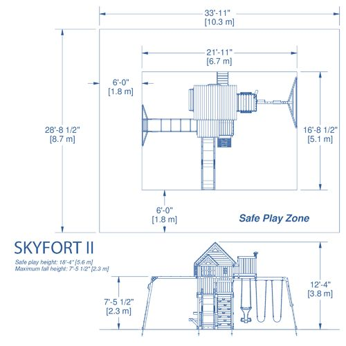 Backyard Discovery™ Skyfort II Wooden Swing Set - view number 5
