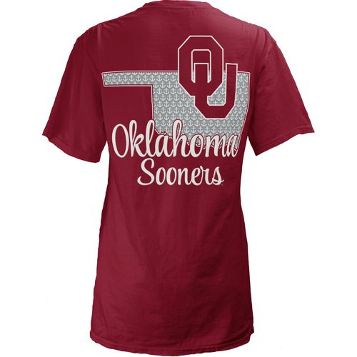 Three Squared Juniors' University of Oklahoma Monogram Anchor T-shirt
