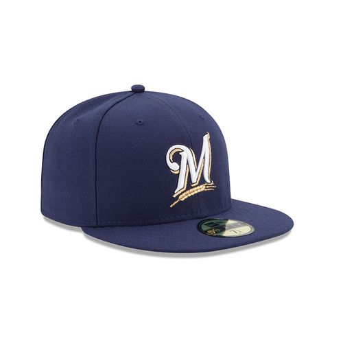 New Era Men's Milwaukee Brewers 2016 59FIFTY Cap - view number 3
