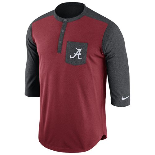 Nike Men's University of Alabama Dri-FIT Touch Henley