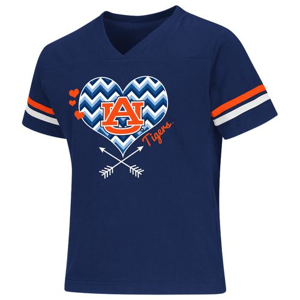 Colosseum Athletics Girls' Auburn University Football Fan T-shirt