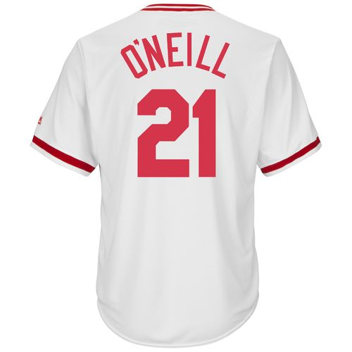 Majestic Men's Cincinnati Reds Paul O'Neill #21 Cooperstown Cool Base 1978 Replica Jersey