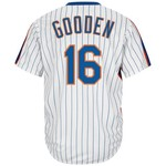 Majestic Men's New York Mets Dwight Gooden #16 Cooperstown Cool Base 1986 Replica Jersey
