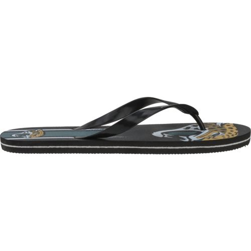 Forever Collectibles™ Adults' Jacksonville Jaguars Gradient Big Logo Flip-Flops