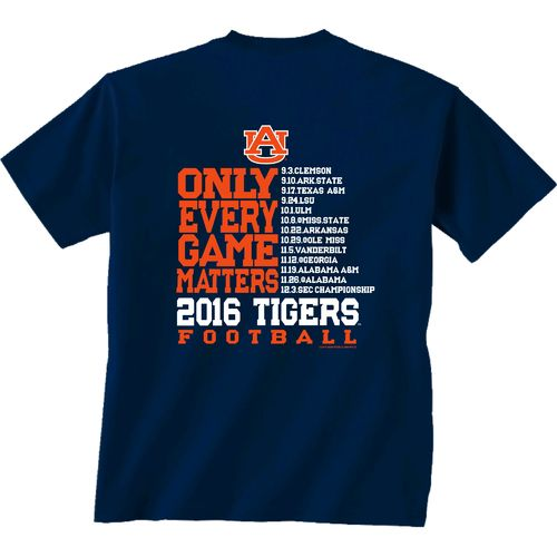 New World Graphics Men's Auburn University Schedule T-shirt