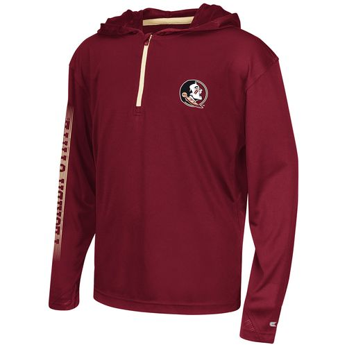 Colosseum Athletics™ Boys' Florida State University Sleet 1/4 Zip Hoodie Windshirt