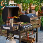 Outdoor Gourmet Triton Classic Gas/Charcoal Grill and Smoker Box - view number 4