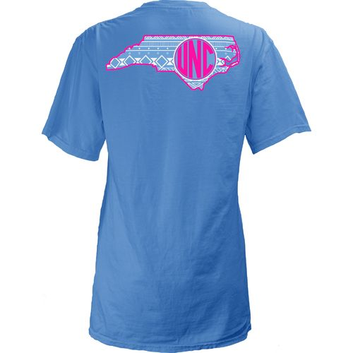 Three Squared Juniors' University of North Carolina Moonface Vee T-shirt